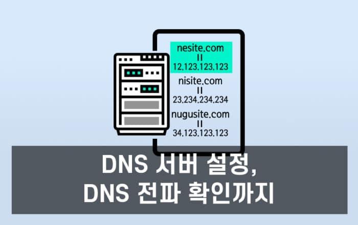 DNS 서버 설정